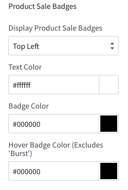 Theme editor product sale badges